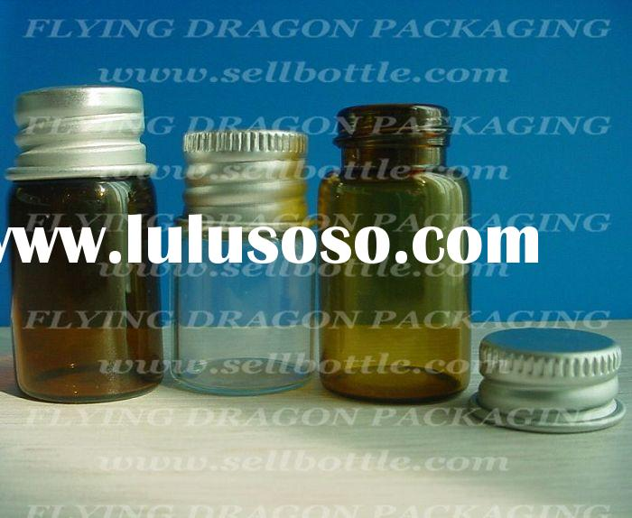 Small amber Pharmaceutical bottle, medicine bottle, glass bottle packaging