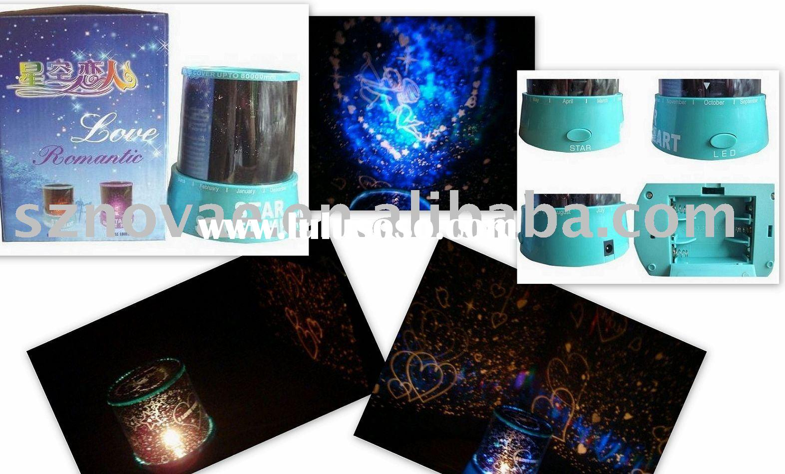 Star Sweet Heart Projector Colorful Night Light Starry Projector
