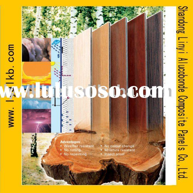 Wooden Surface fireproof acp  aluminum composite panel