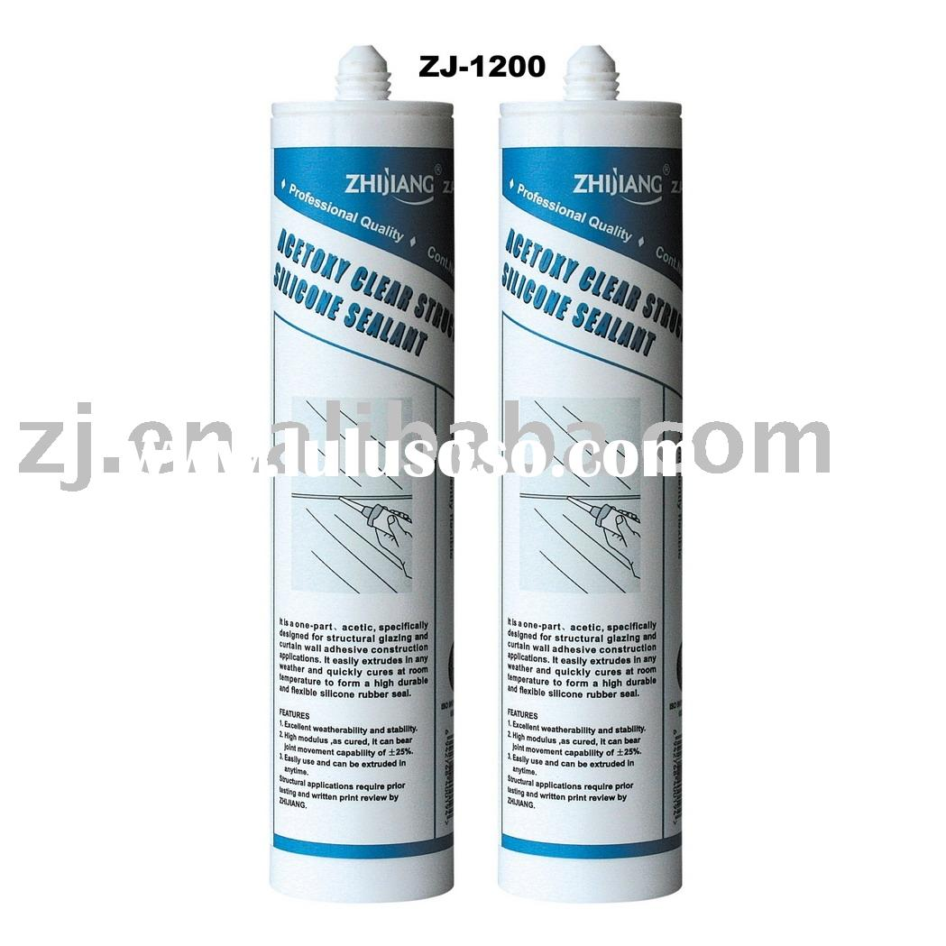 ZJ-1200 One-part Silicone Acetoxy Clear Structural Sealant