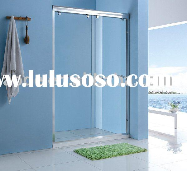 bathroom tempered glass door