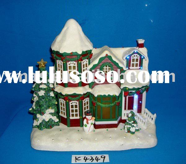 closeout Christmas house with music and light