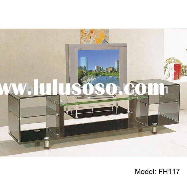 fashion tempered glass LCD wall stand