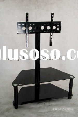 metal & glass tv stand,black float glass,modern television stand