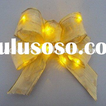 promotion gifts,flashing led bow,led decorative lights,party lights