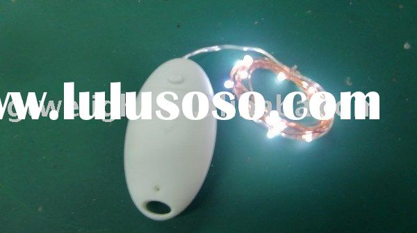 white Battery operated LED copper string lights