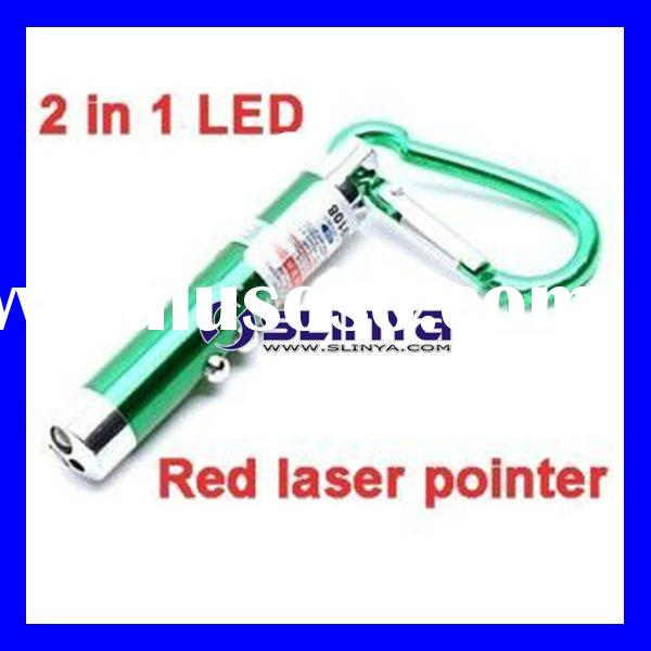 2-LED Laser Pointer Keychain Light Torch Flashlight
