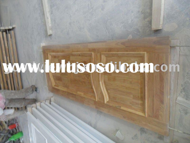 2 Panel Rubber Wood Solid Wood Door PU Painting