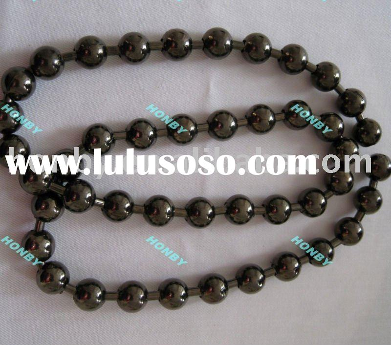 6mm black metal ball chain