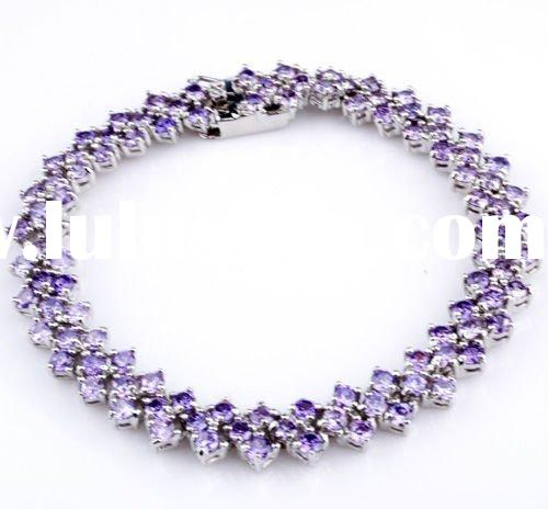 925 silver and leather fashion Chain & Link Bracelets Bangles