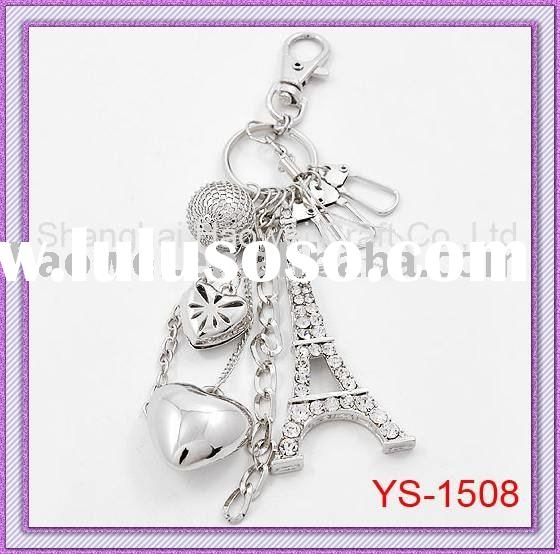 Amazing Bag Charm with hearts,eiffel tower charm,make your bag more attractive