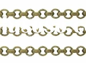 Antique Brass Base Metal Chain Gold Plated Twisted Wire Chain 18k White Gold Chain 14k Gold Chain 14