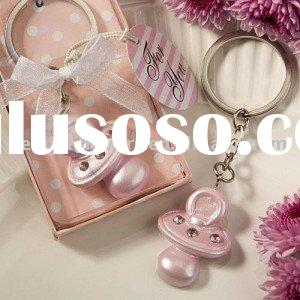 Baby Pink Pacifier Keychain Favor