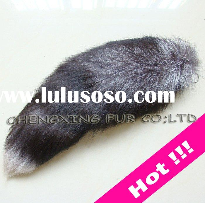 Cute Fox Fur Tail Key Chain