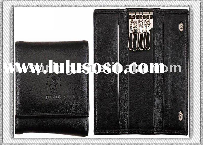 Fashion Design And Hot Sale Cow Leather Key Wallet