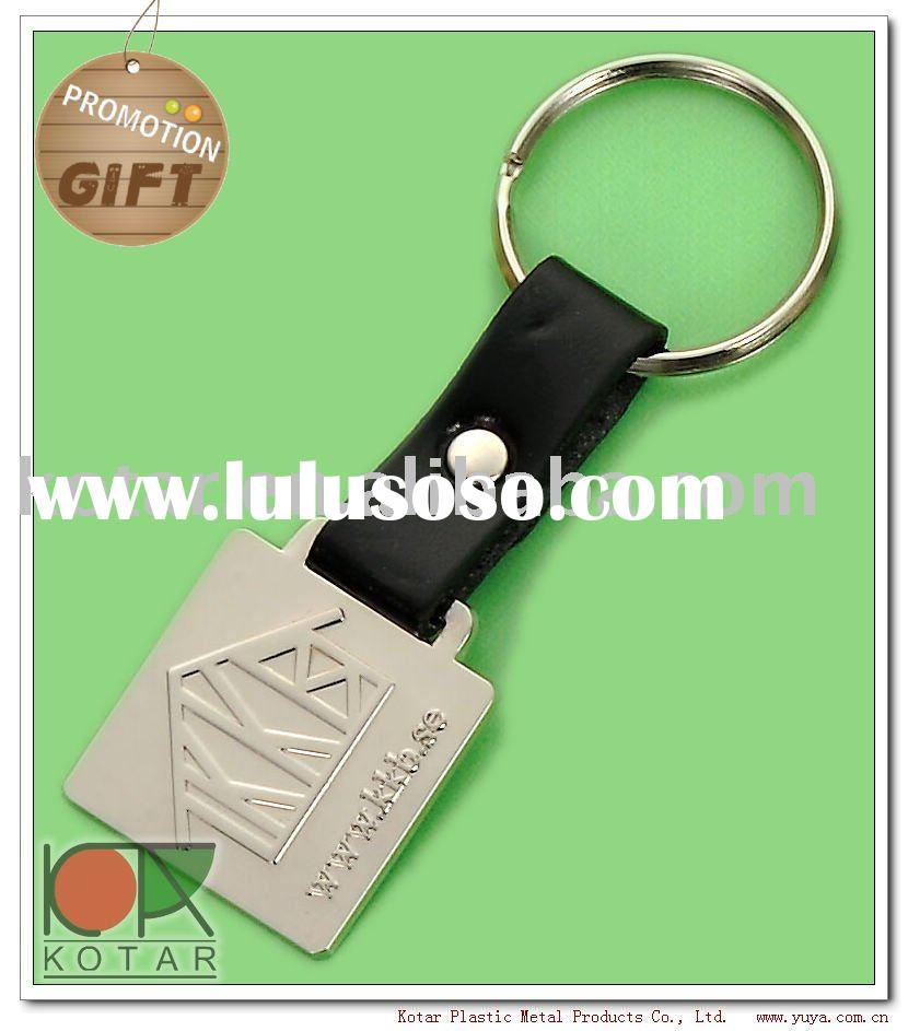 Leather Keychain, key chain,metal key chain