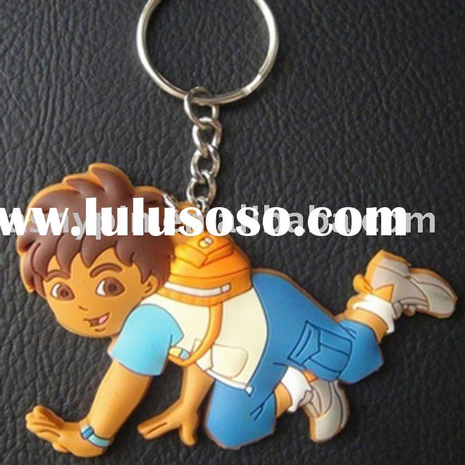 Personalized cheap rubber keychain