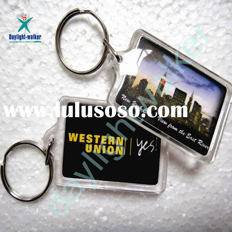 Promotional Cheap Personalized Photo Plastic keychain