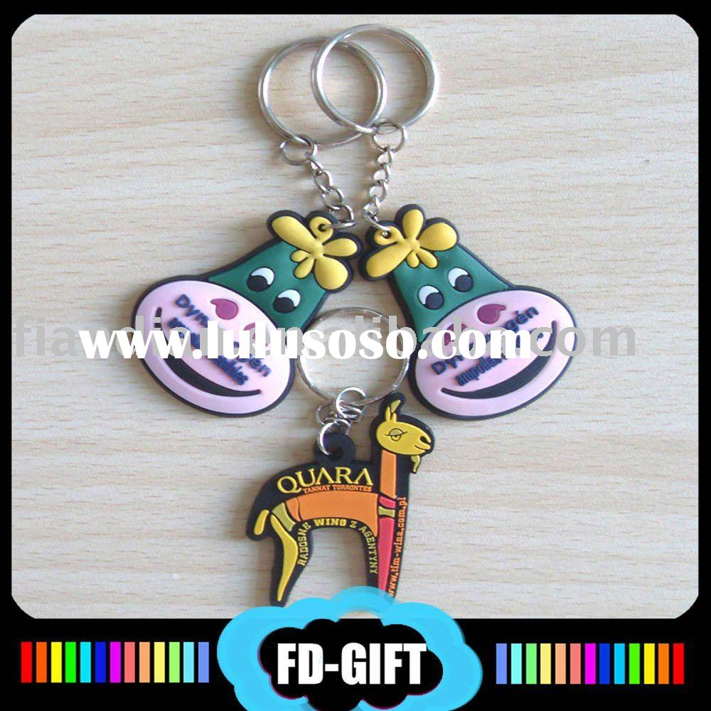 Soft rubber PVC Key Chain