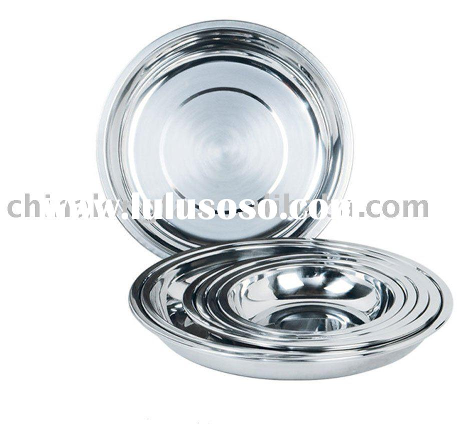 Stainless Steel  round Dish / tray / plate / food tray / dishware