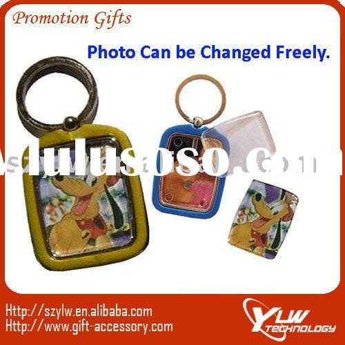 (Unique Design)plastic photo frame keychain,Plastic Key Chain With Photo Frame,fancy keychain