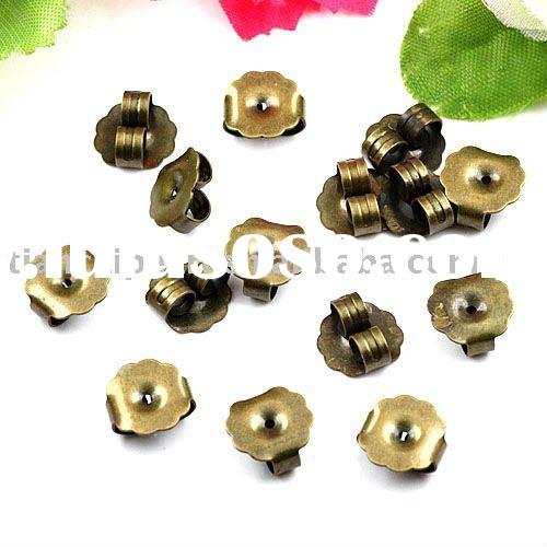 antique brass bronze earring back stopper Jewelry Findings Jewelry Accessories Jewelry Fittings Jewe