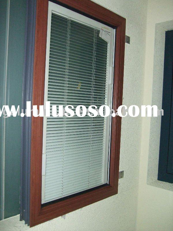 double glazed window with manual controlled blinds
