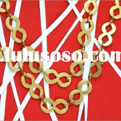 fashion jewelry brass carved chain/jewelry components