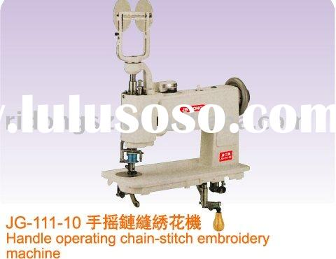 handle operating chain stitch embroidery machine