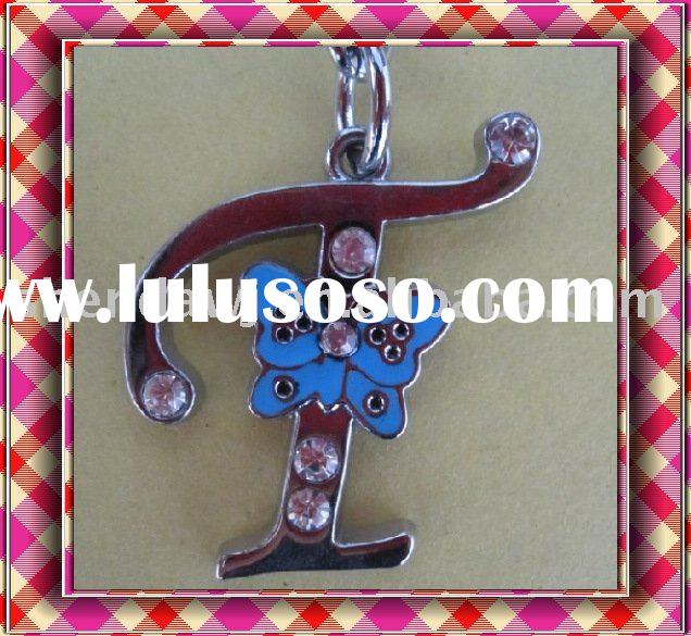initial letter T key chain and keyring
