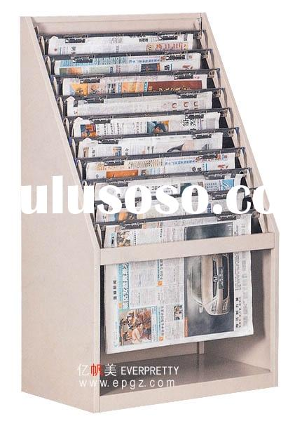 magazine rack,bookcase,book shelf,display shelf,library shelf