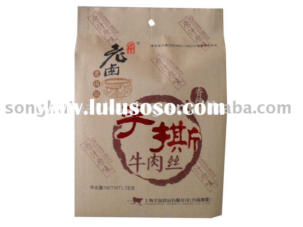 Twist rope with plastic barbs paper bag handle barbed