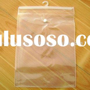 plastic bag with hook in pvc material