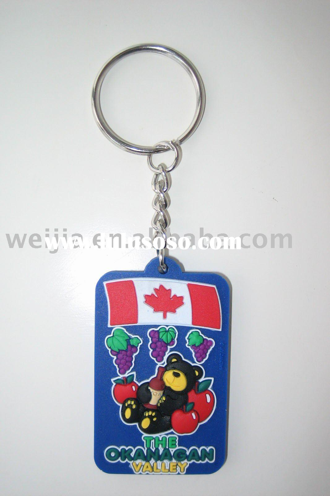plastic key holder,key chain,rubber keychain