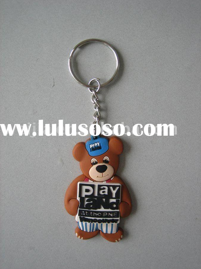 plastic key ring/3D keychain/ key chain