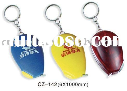 retractable mini spot tape measure key chain