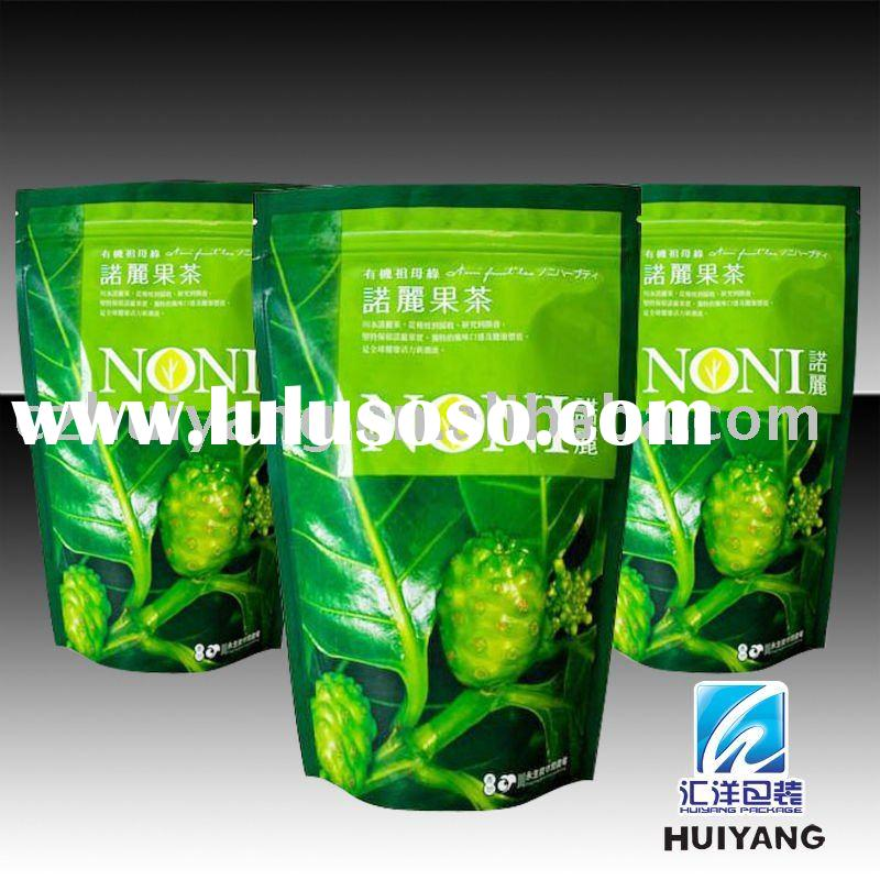 stand up green tea bag with safty material