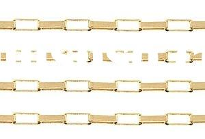 Gold Filled Elongated Box Chain 18k White Gold Chain 14k Gold Chain 14K Gold Bracelet Chain Plated G