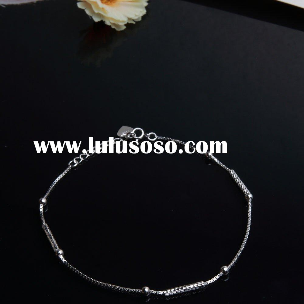 Simple design 925 silver foot chain