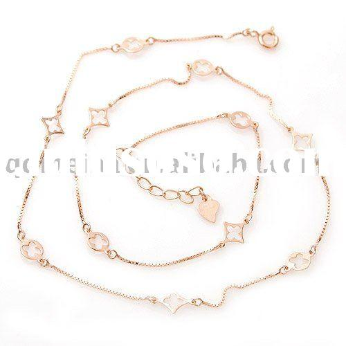 fashion jewelry carved gold plated chain bracelet