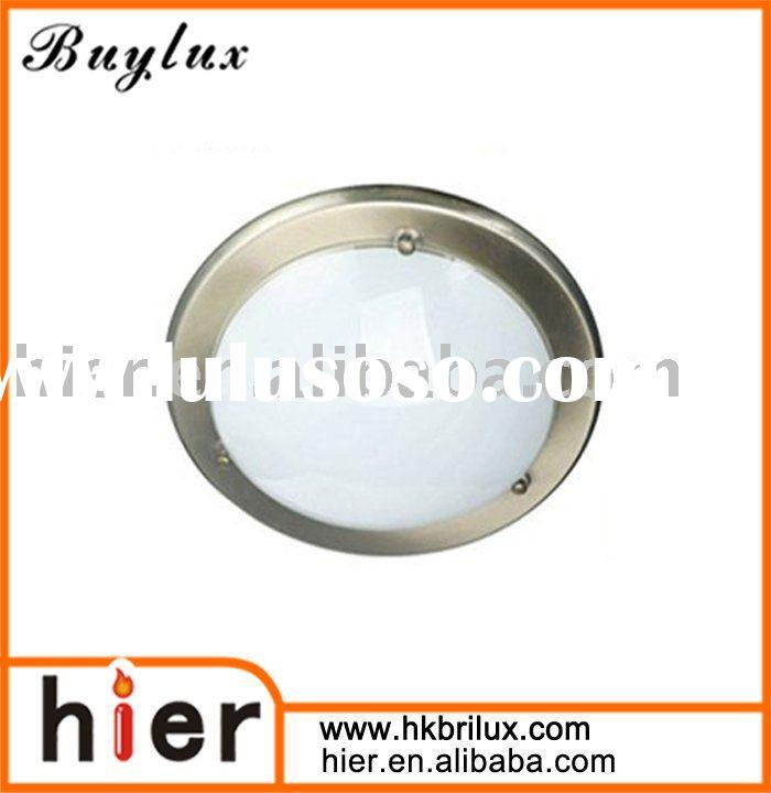 "10.5"" Modern Satin Nickel Trim Flush Mount Lamp Fitting"