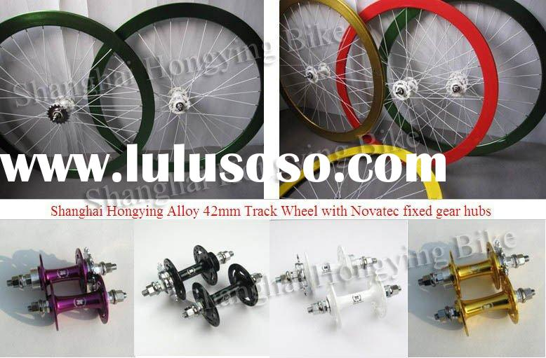 Alloy bicycle track wheels fixed gear hubs