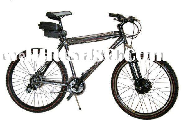 DIY electric bicycle conversion kit on mountain bike