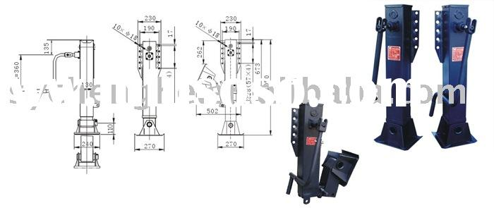 Landing gear (double side operation, gear in), Landing leg, Trailer parts
