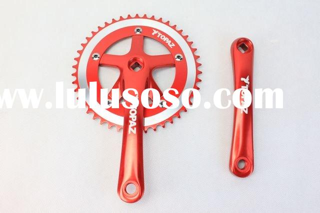 TOPAZ Alloy Fixed Gear Red bike Crankset/bicycal parts