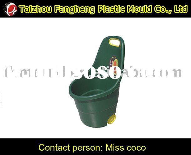 round garden cart mould plastic tool car mould