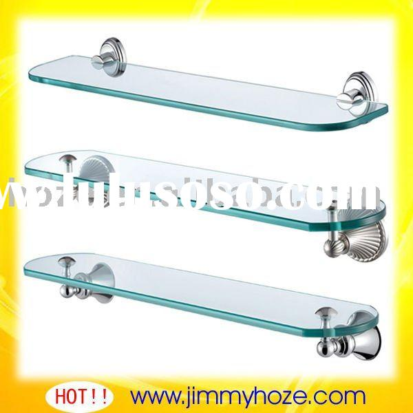 sanitary equipment with glass shelf