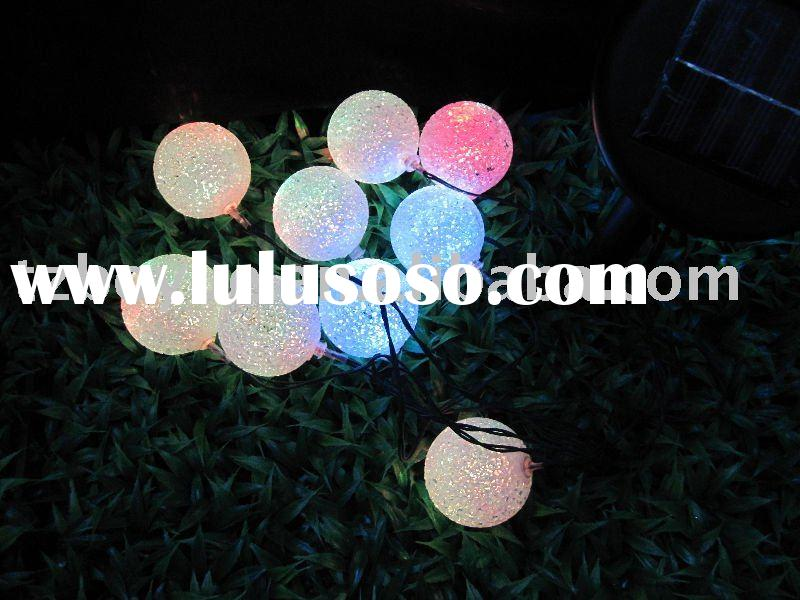 solar led fairy decoration lights with color-changing ball