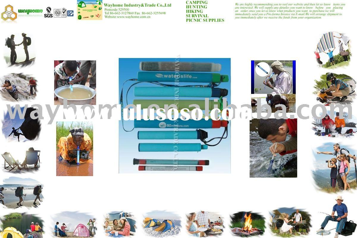 survival gear,army survival water filter,outdoor water filter,water purifier,Water Purifying Straw,S