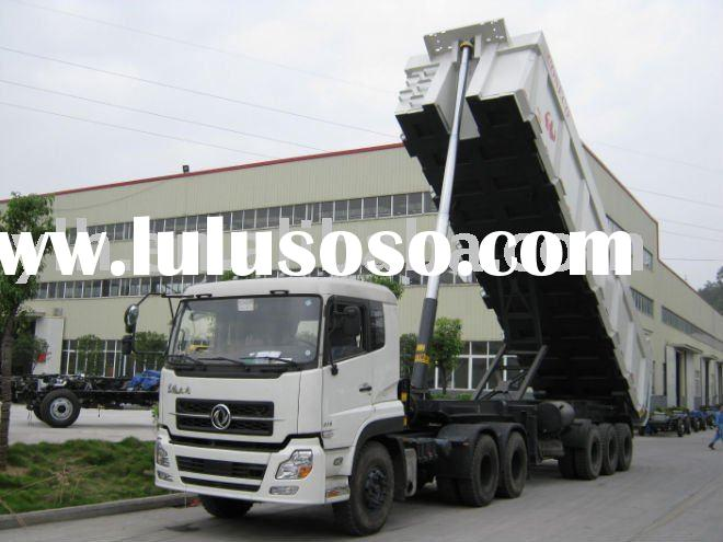 truck tractor and dump sem-trailer